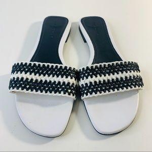 Zara Woman Slides Woven Sandals